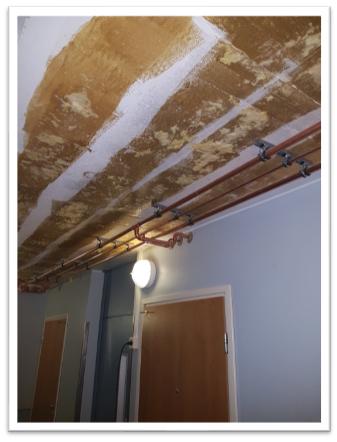 Linjasaneeraus Finnplumber putkien uusiminen kattokiinnitys